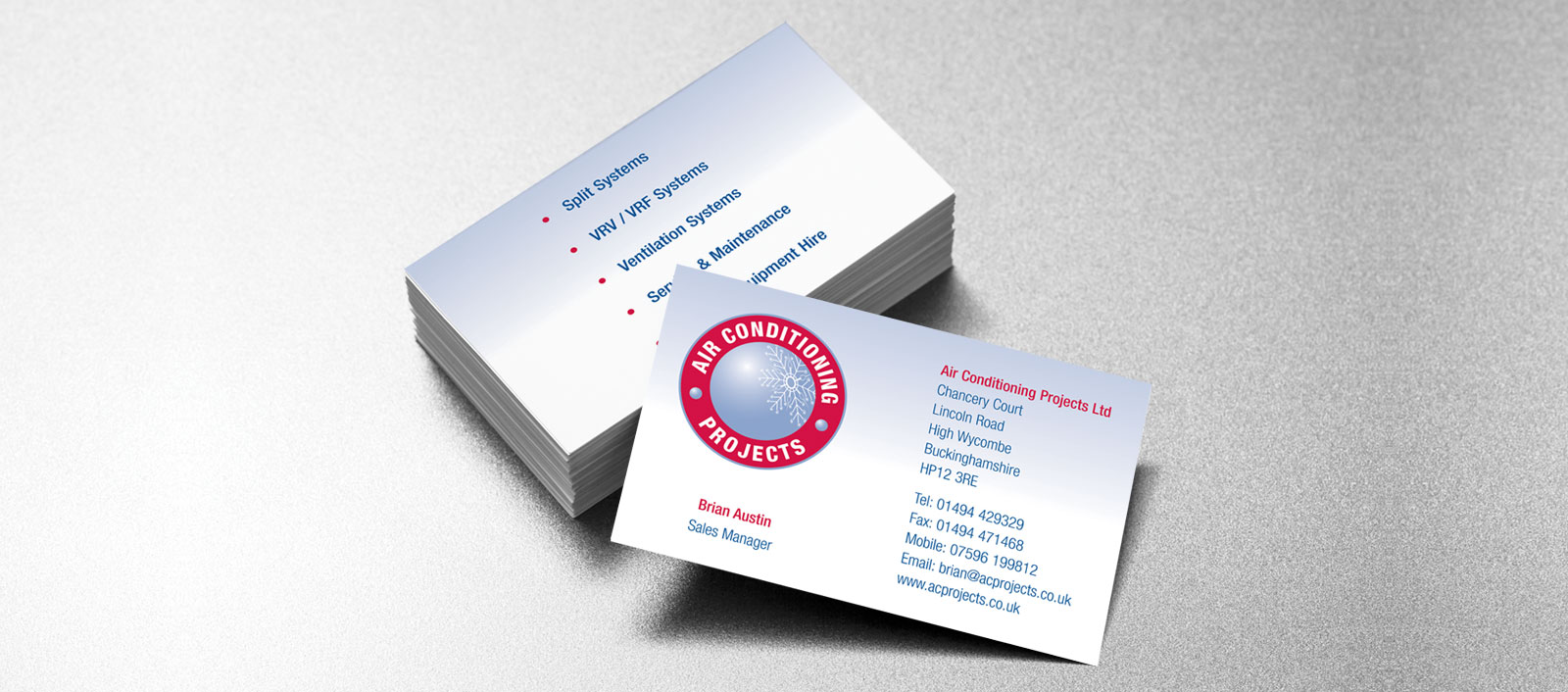 Air conditioning projects business card design holly small design air conditioning projects reheart Gallery