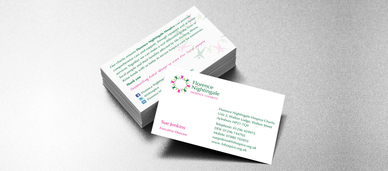 Florence Nightingale Hospice Charity Business Card Design | Holly ...
