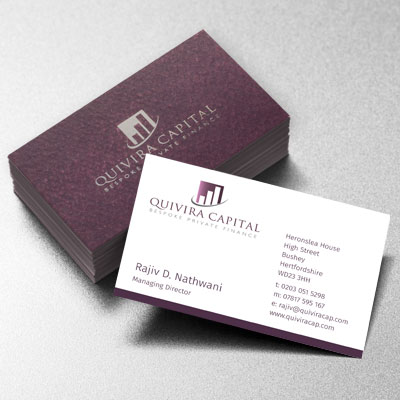 Branding Design Quivira Businesscard