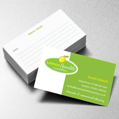 Branding Design Lemonsparkle Businesscard