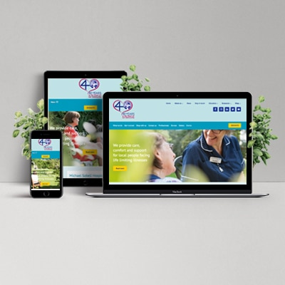 MichaelSobell Hospice Website Design Development Holly Small Design
